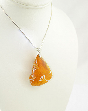 Golden Fish From Natural Baltic Amber