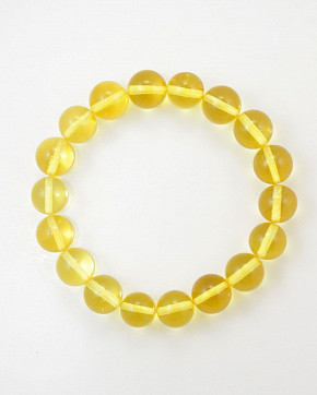 Lemon Bracelet From Natural Baltic Amber