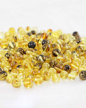 Amber Variegated Balls From 4 Mm To 6 Mm Second Grade