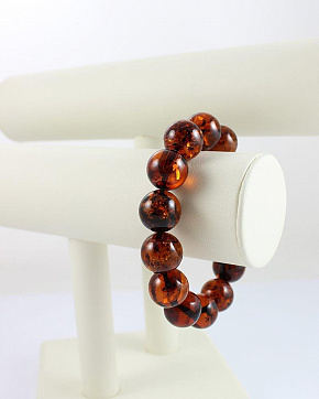 Lovely Bracelet Of Natural Amber Cognac Color
