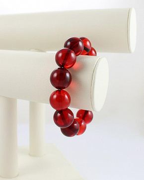 Amazing Red Bracelet Made Of Natural Amber
