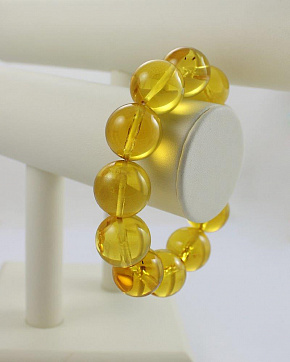 Transparent Large Bracelets Made From Natural Baltic Amber