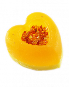 Natural Amber Handmade Soap In The Shape Of A Heart