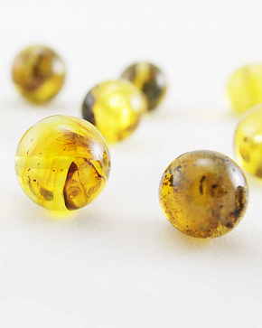 Amber Variegated Balls From 15 Mm To 20 Mm Second Grade