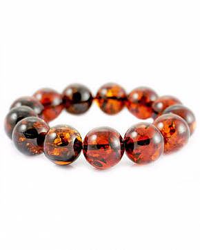 Gorgeous Bracelet Made Of Natural Amber Cognac Color