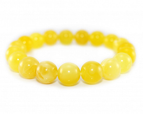 Delicate Bracelet Made Of Natural Baltic Amber Honey Color