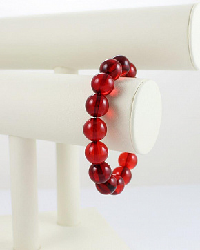 Elegant Red Bracelet Made Of Natural Amber